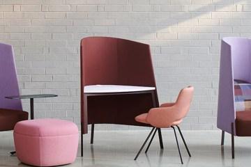 桌、椅、隔板三位一體: Fractals Nook 創造多變空間