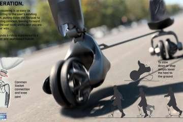 足部義肢結合滑板車概念 Crosswing,奪得 2021米其林 Movin'On 設計挑戰賽首獎