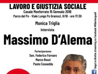 Lunedì pomeriggio a Casale Massimo D'Alema apre la campagna elettorale di Liberi e Uguali con Pietro Grasso CorriereAl