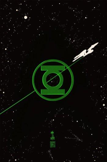 Star Trek/Green Lantern: The Spectrum War #1 Cover von Francesco Francavilla