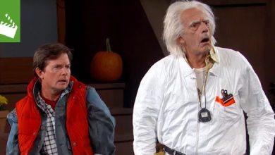 Bild von Video: Doc Brown und Marty McFly landen im Jahr 2015 bei Jimmy Kimmel