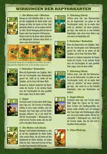 Aktionskarten des Raptoren