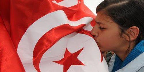 femme-drapeau tunisie
