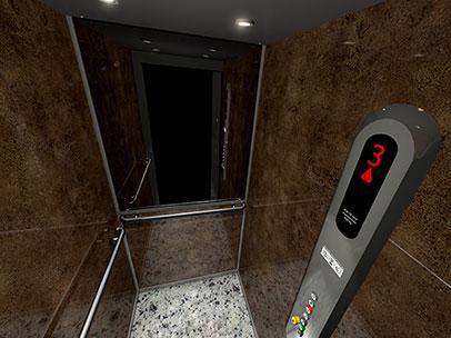 Cabines d'ascenseurs 3D pour brochure