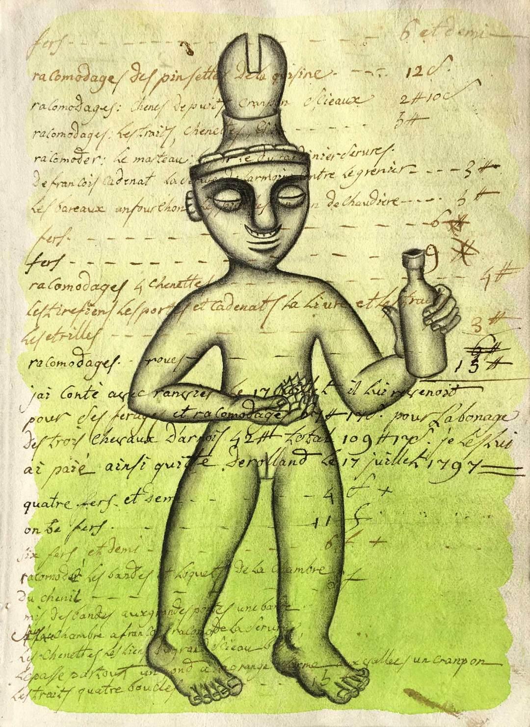 Décapsuleur cérémoniel quimbaya (500-1000) Colombie
