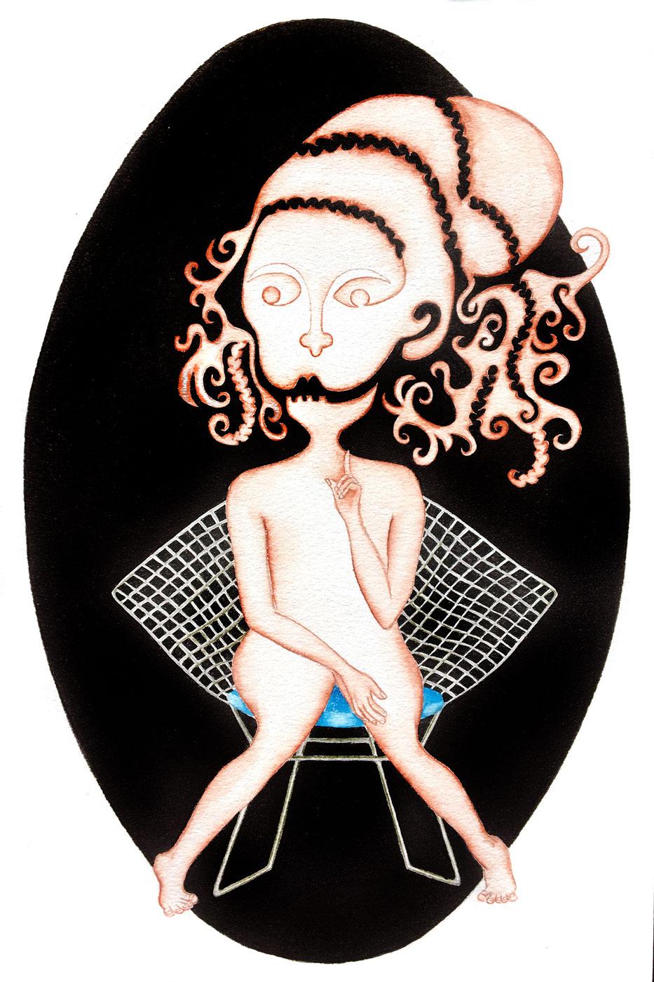 Zodiaque - Vierge sur un fauteuil bertoya