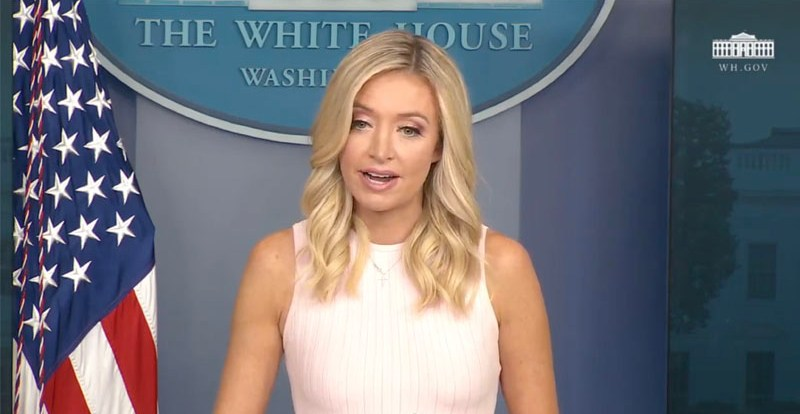 Press Sec McEnany Says Trump Administration Stands With Police, Condemns BLM Violence