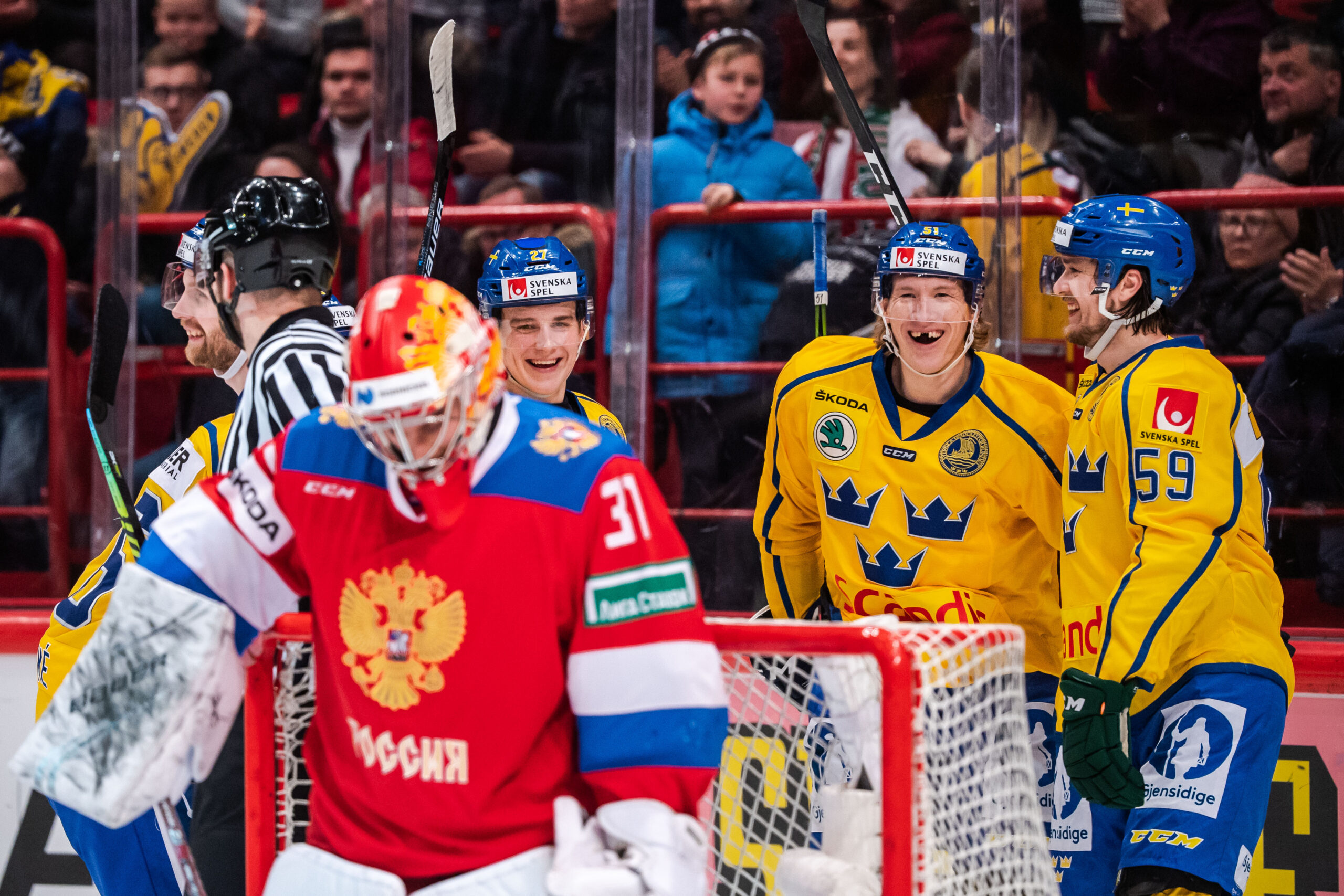Tre Kronor besegrade Ryssland