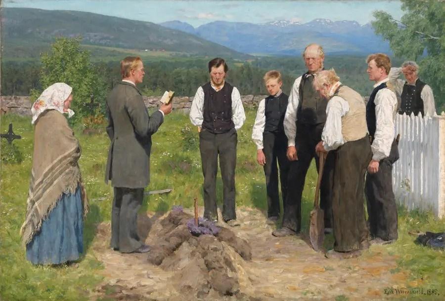 En bondebegravelse