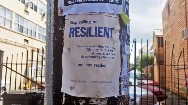 Zeg niet dat ik veerkrachtig ben!