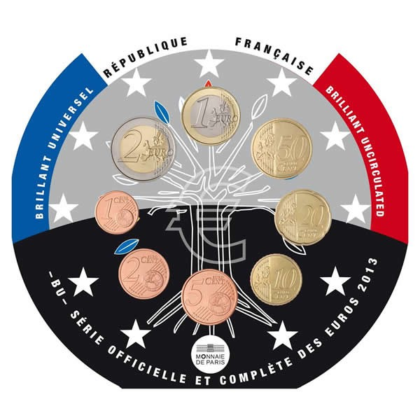 Nové €uromince Francie 2013