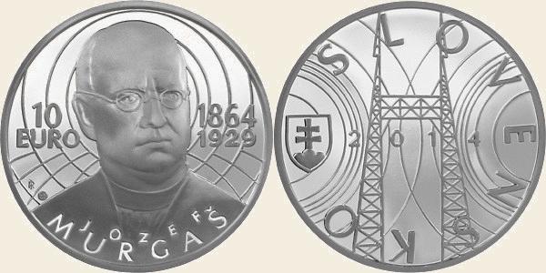 Slovensko: 10€ Ag – Josef Murgaš