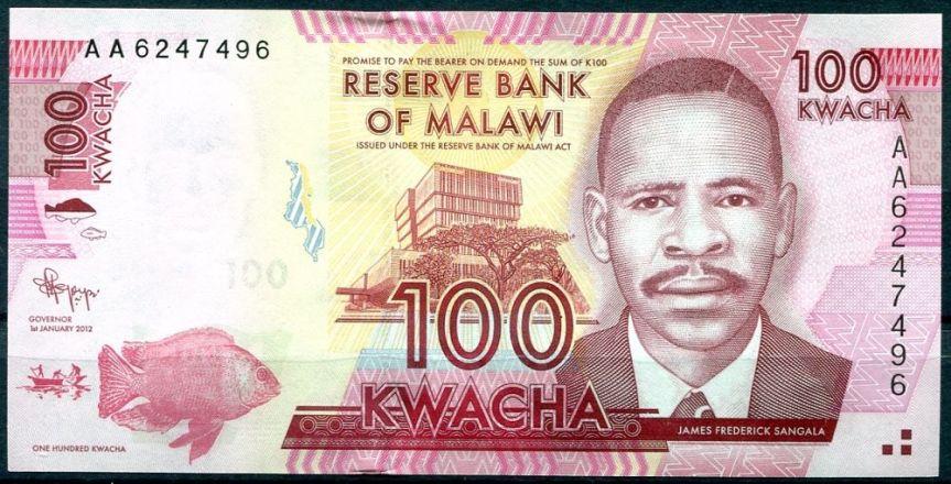 Nová série bankovek Malawi 2012 P57–62