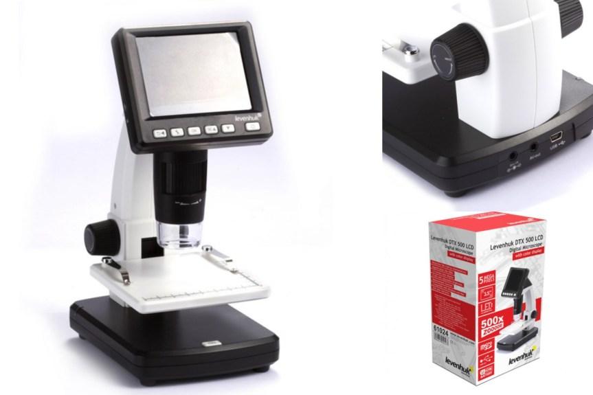 Digitální mikroskop Levenhuk DTX 500 LCD: Pomocník na doma i do terénu