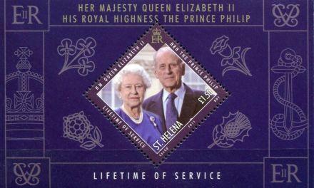 Britská královská rodina na známkách ostrova Svatá Helena