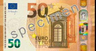 bankovky 50 euro řady Europa