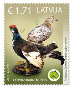 Lotyšská pošta: Lotyšské muzeum přírody