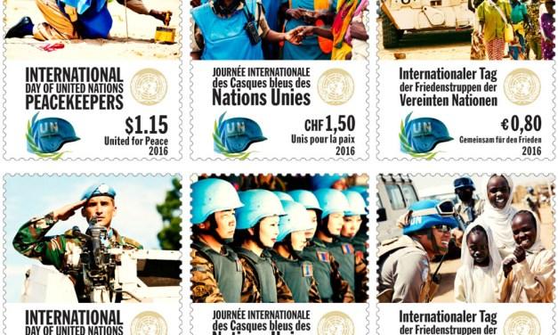 Známkový aršík k Mezinárodnímu dni mírových sil OSN