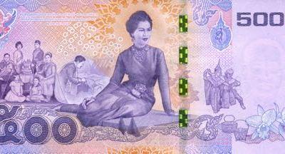Nové thajské bankovky k 84. narozeninám královny Sirikit