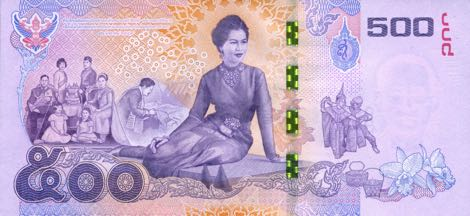Nové thajské bankovky