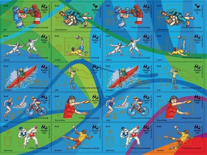 Brazilské olympijské známky – XXXI. Olympijské hry v Rio de Janeiru