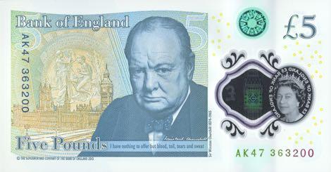 Nové britské bankovky s Winstonem Churchillem