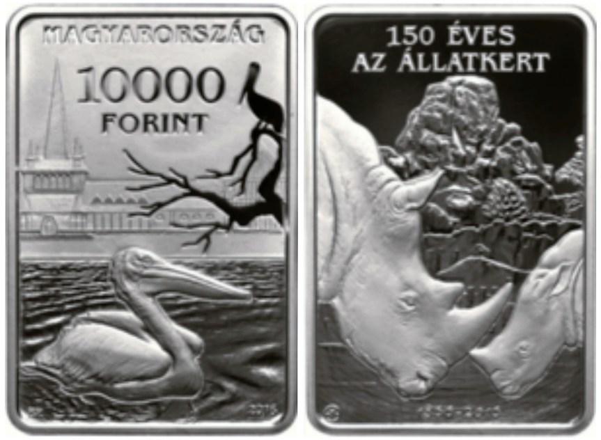 Hranaté maďarské mince oslavují 150leté výročí budapešťské zoo