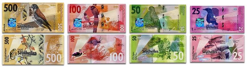 Nové seychelské bankovky a mince ke 40. výročí nezávislosti