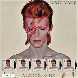 Známky s Davidem Bowiem