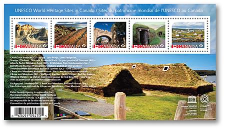 Nové kanadské známky na námět dědictví UNESCO
