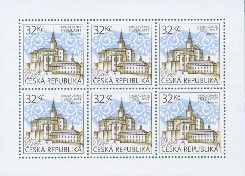 Česká známka emise Europa 2017 na námět hrady a zámky