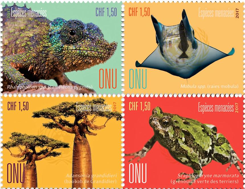 Nové známky OSN na motiv ohrožené druhy