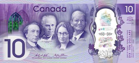 Nové kanadské bankovky ke 150. výročí Kanady