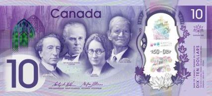 Nové kanadské bankovky