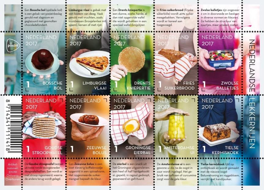 Nové nizozemské známky s kulinářskými specialitami