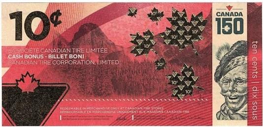 Kanadské bankovky Canadian Tire