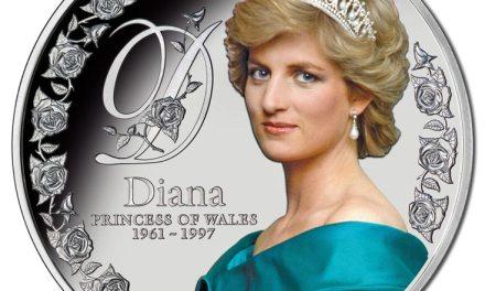 Stříbrné mince ke 20. výročí úmrtí princezny Diany