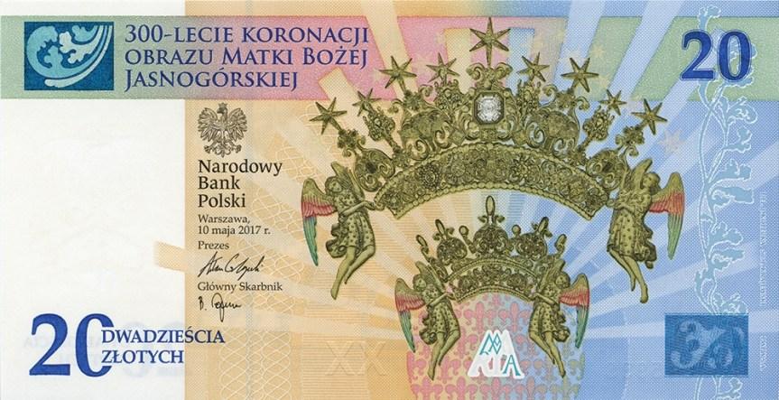 Nové polské bankovky 20 złotych uctívají Pannu Marii