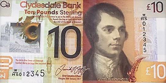 Nové skotské bankovky 10 £ - Clydesdaleská banka
