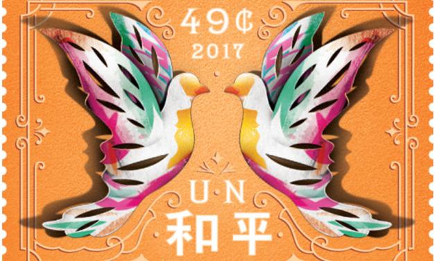 Nové známky OSN na motiv Den míru