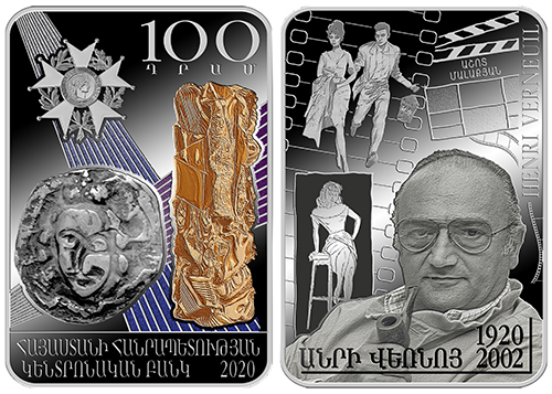 Mince 2020: Arménie – 100 Dram, Henry Verneuil – 100. výročí narození
