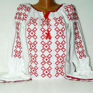 camasa traditionala brodata cu rosu