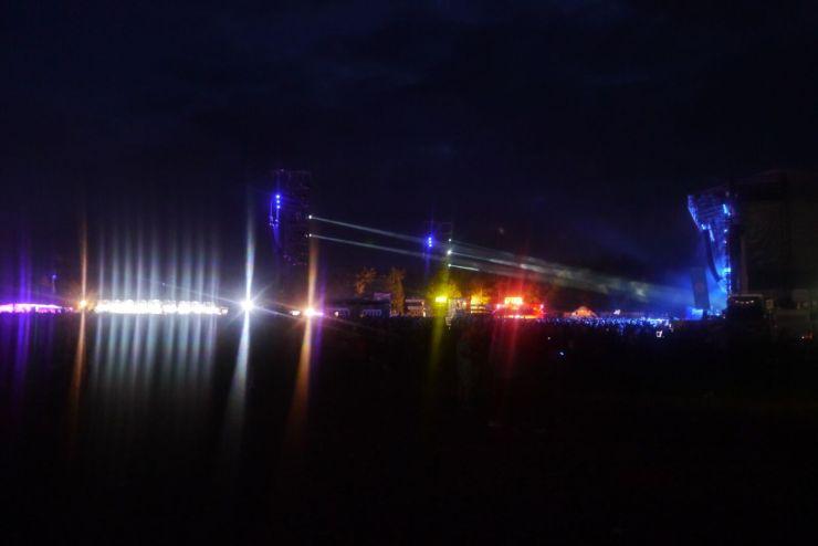 Forest Stage beleuchtet