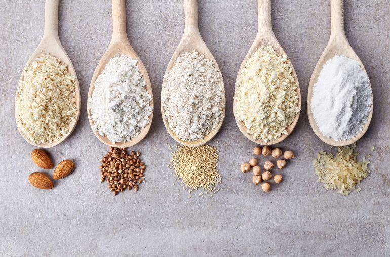 Various gluten free flour
