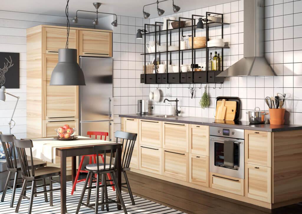 Ikea Kuche Regal Holz Metod Von Ikea Bild 6 Schoner Wohnen
