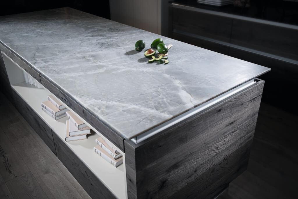 Keramik Küchenplatte | Bianco Drift 6131 Caesarstone ...
