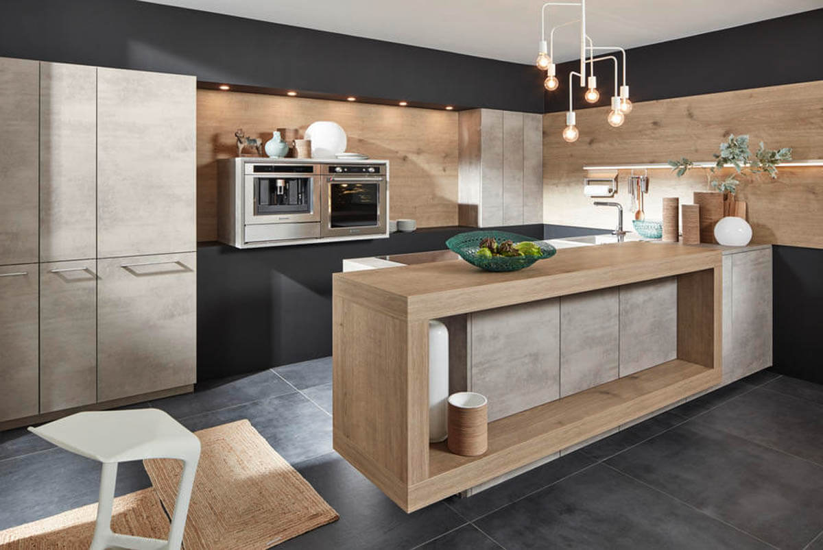 k cheninsel mit sp le und kochfeld mehr ergonomie in der k che die richtigen k chenma e k che co. Black Bedroom Furniture Sets. Home Design Ideas