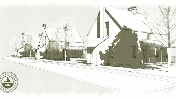 Проект блокированного дома на две семьи