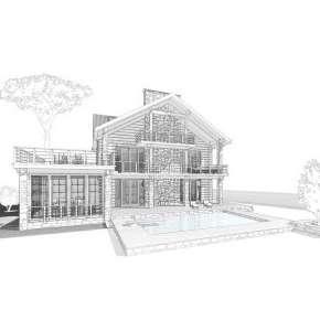 """Индивидуальный проект двухэтажного дома из бруса """"Organic House"""""""