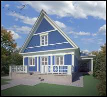 Проект загородного жилого дома площадью 144 м2.